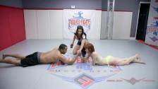 Alexa Nova has limited chance in man vs women arm wrestling test