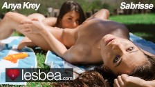 Lesbea straight teen anya krey teased by young lesbian sabrisse